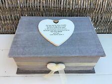 Shabby RUSTIC Chic Distressed NIECE Gift Any Name JEWELLERY Box TRINKET Birthday