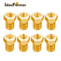 5Pcs V5 V6 3D Printer Nozzle 0.2/0.25/0.3/0.4/0.5/0.6/0.8/1.0mm for 1.75/3.00mm