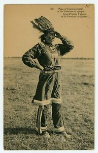 Iroquois Indian CAUGHNAWAGA Kahnawake Quebec Canada 1907 ND Phot 189 Postcard