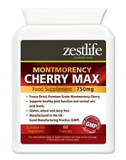 Zestlife Montmorency Cherry MAX 750mg 60 Veg Capsules muscles, joints, exercise