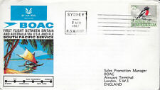 AVIATION :1967 B.O.A.C. First South Pacific Flight -Sydney to London