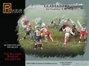 Pegasus Gladiators 36Pc Set 1:72, #PEG7100