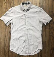 Burberry Brit Mens Signature Nova Check Short Sleeve Button Down Shirt Small