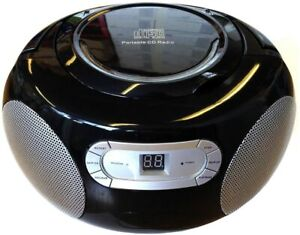THATSHOW  BLACK PORTABLE CD PLAYER AM/FM RADIO BOOMBOX