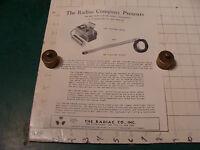 original Vintage 1955 Geiger Counter ad sheet: FISSION FINDER & FISSION TACKLE