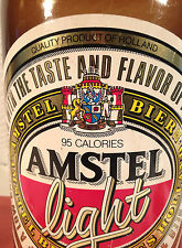 "Vintage Amstel Light Beer Advertising Plastic Bottle 24"" High -  Great Graphics"