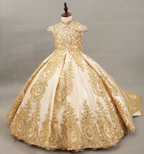 Wedding Birthday Ball Flower Girls Dress Princess Pageant Party Dance Prom Gowns