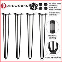 Hairpin Table Legs Furniture Set Hair Pin Desk Bench Steel Black Coffee Chair