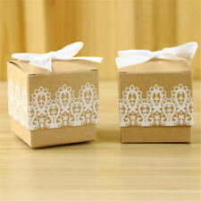 10pcs rustic lace vintage candy gift boxes shabby chic wedding favour box *