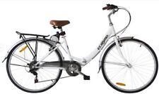Bicicletas plegables blancos de acero