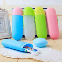 Portable Plastic Toothbrush BottleBathroom Holder Cup Travel Storage Home Box