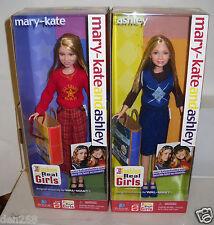 #6565 RARE NRFB Mattel Walmart Mary Kate & Ashley Fashions For Real Girls Dolls