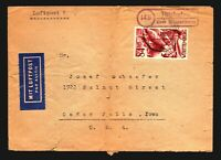 Germany 1948 Rheinland Cover / Mi# 26 / Fold / Light Tears - Z14131