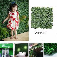 "12pcs Artificial Boxwood Hedge Mat UV Grass Fake Fence Wall Decor 20""x20"" USA"
