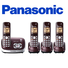 Panasonic KX-TG6574R Wine Red Expandable Digital Cordless Phone w/ 4 handset