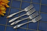 """Set of 4 IS Wm Rogers Silverplate LUFBERRY 7 1/8"""" Dinner Forks 1915"""