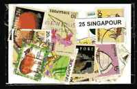 Singapour 25 timbres différents