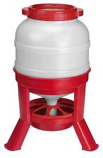 Eton Plastic Tripod Chicken & Poultry Hopper Feeder 30kg - Red