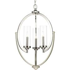 Progress Lighting Evoke 3-light Polished Nickel Chandelier w/ Clear Glass Shade