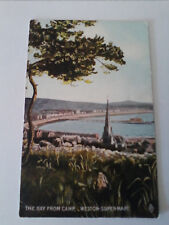 Postcard The Bay from Camp Weston super mare Somerset (A5)