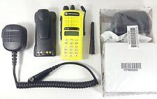 Motorola Ht1250 Uhf 403-470 Mhz Police Fire Ems Radio Aah25Rdh9Aa6An Yellow