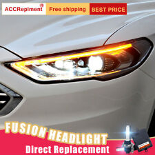 2Pcs For Ford Fusion Headlights assembly Bi-xenon Lens Projector LED DRL 17-19
