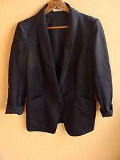 Authentic Nina Ricci Model Depose Black Single-Button Blazer Jacket Size 40