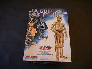 LA GUERRE DES ETOILES STAR WARS MAQUETTE Z-6PO + BOITE 1977 MECCANO FRANCE