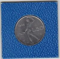 50 Lire Italien 1956 Italy TOP Erhaltung