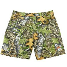 Under Armour Mossy Oak Loose Fit Cargo Shorts Camo Fish Hunting - Mens Size 40