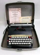 VINTAGE! SEARS PRESIDENT 12 PORTABLE TYPEWRITER W/CASE #871.2530