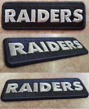 """Exclusive Oakland Raiders NAME Iron On/ Sew Embroidery Patch (US MADE) 3""""X1"""""""