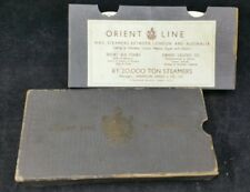 Orient Line Round Gilt Edged Gilt Edge Playing Cards Boxed in Original Slip Case