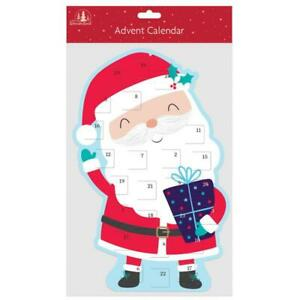 Large Santa Shaped Christmas Advent Calendar
