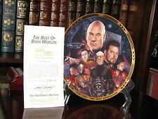 Star Trek The Next Generation Plate: The Best of Both Worlds with Coa