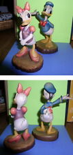 Disney Donald & Daisy Duck Woodcarving Anri made in Italy