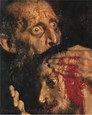 Zombie Art Print 8 x 10 - Ivan the Terrible Eating Brains - Horror Goth Art