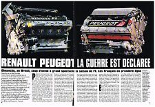 PUBLICITE ADVERTISING  1989   RENAULT PEUGEOT grand prix du BRESIL (2 pages)