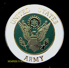 US ARMY SEAL LOGO HAT PIN INSIGINA USA OFFICER ENLISTED WO VETERAN VET FORT WOW