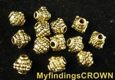 60Pcs Antiqued gold dotted square barrel spacers FC533