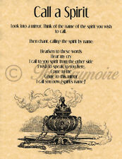 Call a Spirit, Book of Shadows Spell Page, Wicca, Witchcraft, Real Spell