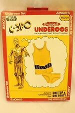 Underoos Star Wars C-3PO Underwear Brief Set Junior's Medium M NEW