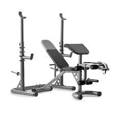 Weider Olympic Workout Bench Squat Rack Preacher Pad XRS 20 WEBE1486 Ships Fast