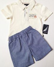 Nautica Boys Shorts Set Size 0-3 months~Collared Polo Top~New Tags $42.00