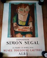 Affiche, Simon Segal, musée d'Albi 1956, lithographie Mourlot