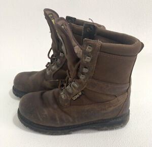 FIELD & STREAM Gore-Tex Brown Work/Hunt Boots Leather Sz 9 Thinsulate MFW08282