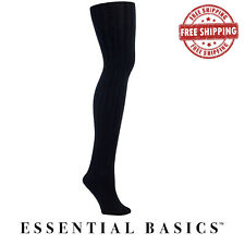 NEW Women Soft Winter Fleece Lined Ribbed Footed Solid Colored Warm Tights 1 Pac