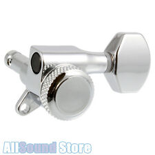 NEW 6 In-Line Mini LOCKING Guitar Tuners - CHROME 18:1 for Fender Strat & Tele