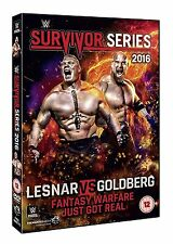 WWE (Wrestling)  Survivor Series 2016 (Lesnar Vs. Goldberg)DVD in Inglese NEW.cp