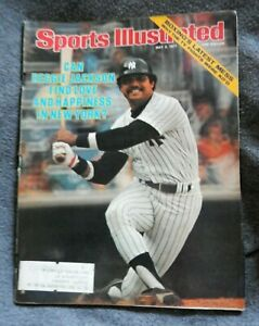 """SPORTS ILLUSTRATED~may 2,1977-REGGIE JACKSON-""""Love And Happiness In New York?"""""""